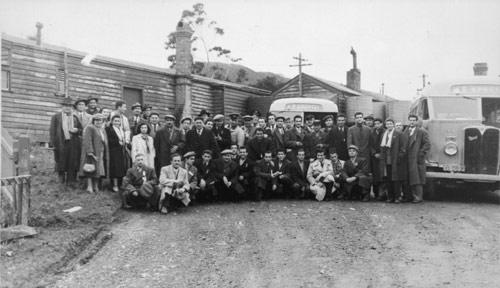 Greek refugees en route to Pahīatua camp