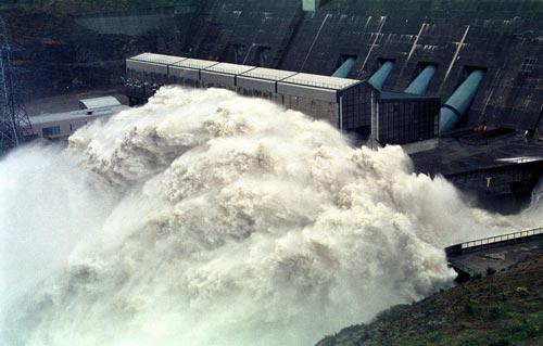 Clyde Dam spillway