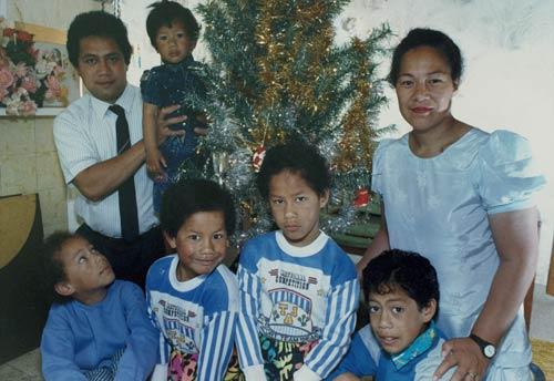 The Talamaivao family, 1991