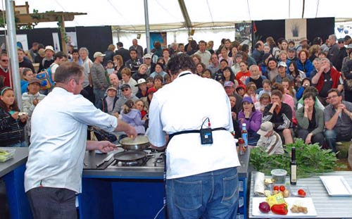 Cooking demonstration, Royal New Zealand Show