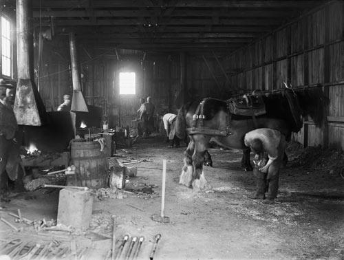 Blacksmithing.