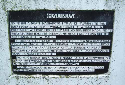 Haurua monument