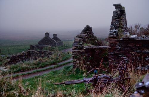 Deserted houses, Shetland Islands