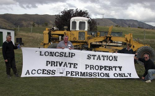South Island land protest