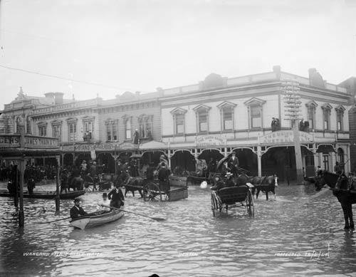 Flood waters, Whanganui, 1904