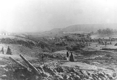 Building roads, 1850s