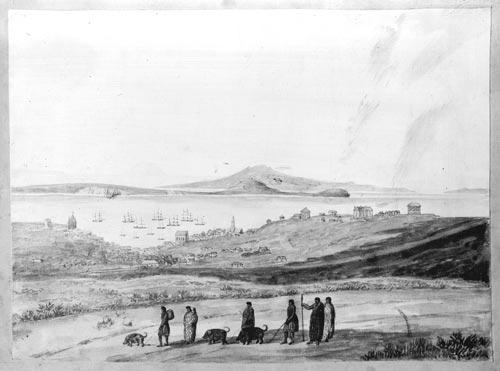 Māori traders, 1850