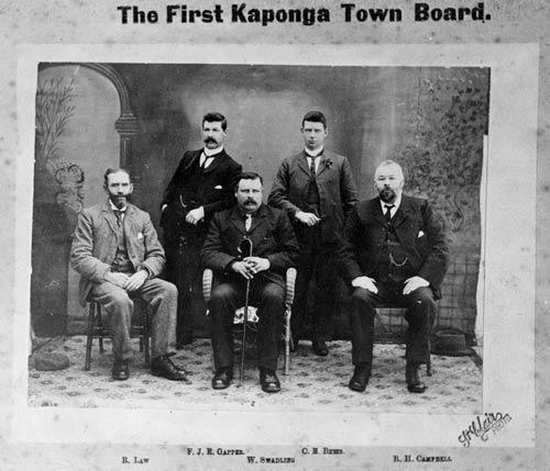The first Kaponga Town Board