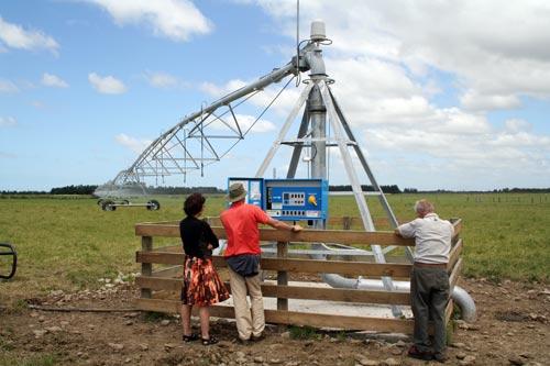 Centre pivot spray irrigation