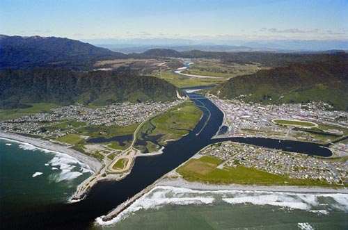 Greymouth from the air