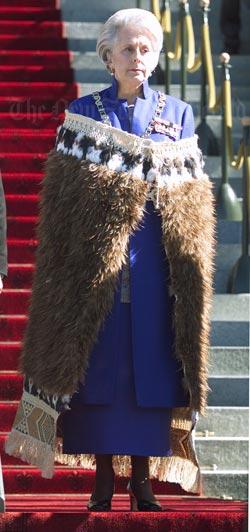 Dame Silvia Cartwright opening Parliament