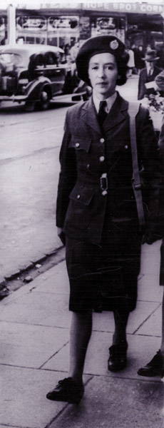 Anne Delamere in WAAF uniform