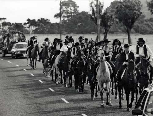 Riders in Spanish costume