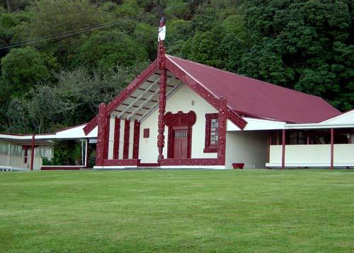 Tāpeka meeting house at Waihī marae, near Tokaan...