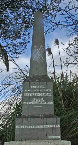 Monument at Ōrākau