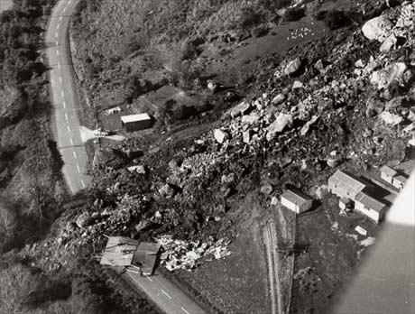 Landslide at Whitecliffs