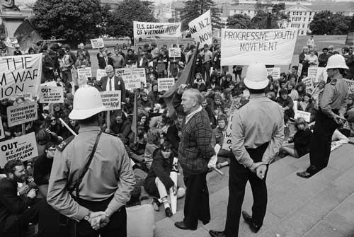 An anti-Vietnam War protest Vietnam War Protest