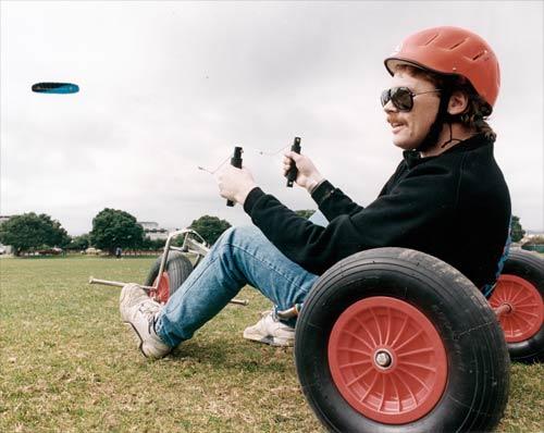 Kite-powered buggy
