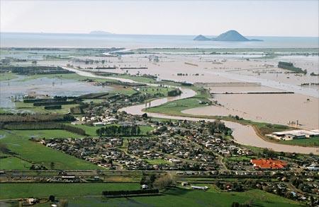Rangitāiki Plains in flood