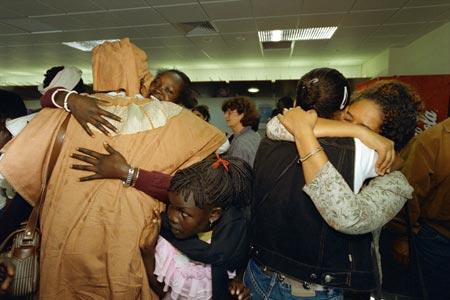 Ethiopian refugees reunited