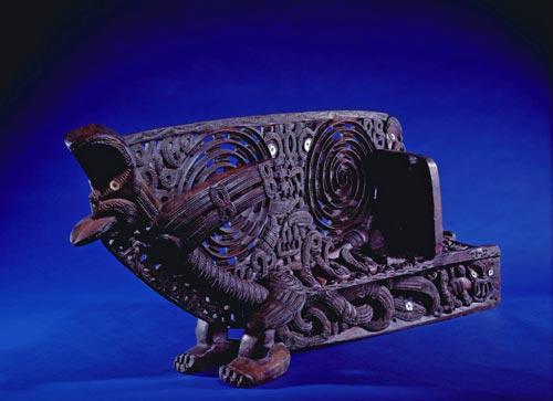 Tauihu carved by Wiremu Kīngi Te Rangitāke
