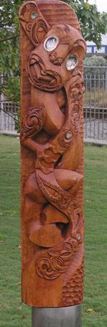 Carving of Ururangi, Tauranga