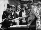 A 1940 re-enactment of the signing of the Treaty of Waitangi