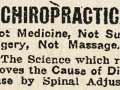 Early chiropractic advertisement