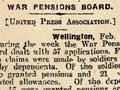 War Pensions Board, 1916