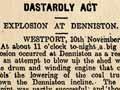 Bomb explosion at Denniston