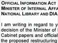 Ombudsman's ruling about official information, 2011