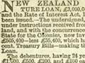 New Zealand government debentures for sale, 1867