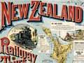 New Zealand railways poster, 1889