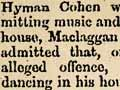Music and dancing banned, 1868