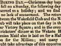 A Boxing Day holiday