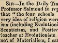 The debate on Darwinism and religion, 1876