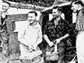 Les Lockerbie and team embark for Hawksburn, Central Otago, 1955