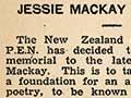 Jessie Mackay poetry prize, 1939