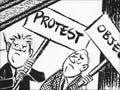 Motorway protest