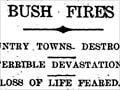 Reporting a bush fire