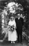 Helen and Noel Benson on their wedding day, 8 December 1923