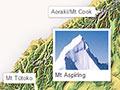 Mountainous areas of New Zealand
