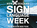 New Zealand Sign Language Week poster
